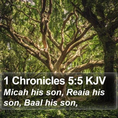 1 Chronicles 5:5 KJV Bible Verse Image