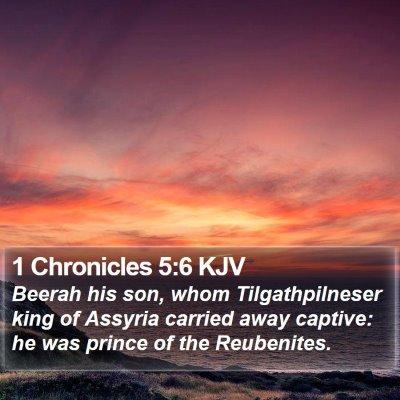 1 Chronicles 5:6 KJV Bible Verse Image