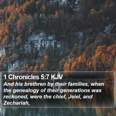 1 Chronicles 5:7 KJV Bible Verse Image