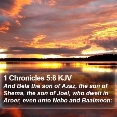 1 Chronicles 5:8 KJV Bible Verse Image