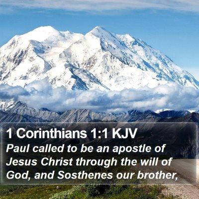 1 Corinthians 1:1 KJV Bible Verse Image