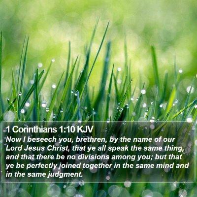 1 Corinthians 1:10 KJV Bible Verse Image