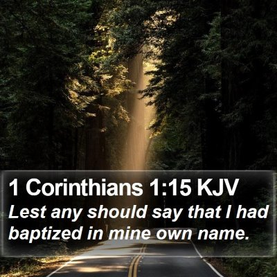1 Corinthians 1:15 KJV Bible Verse Image
