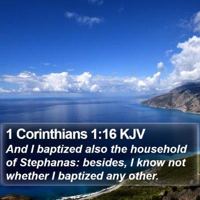 1 Corinthians 1:16 KJV Bible Verse Image