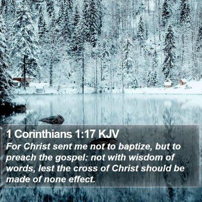 1 Corinthians 1:17 KJV Bible Verse Image