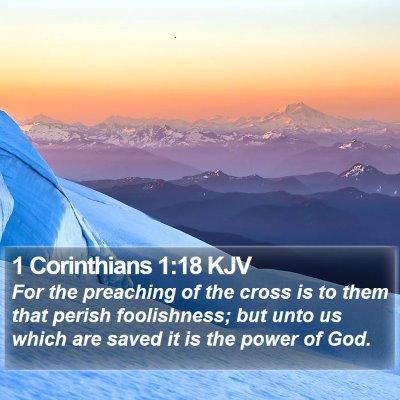1 Corinthians 1:18 KJV Bible Verse Image