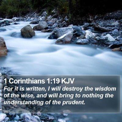 1 Corinthians 1:19 KJV Bible Verse Image