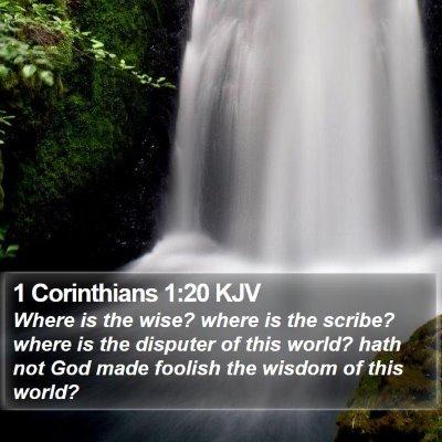 1 Corinthians 1:20 KJV Bible Verse Image