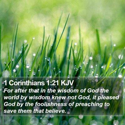 1 Corinthians 1:21 KJV Bible Verse Image