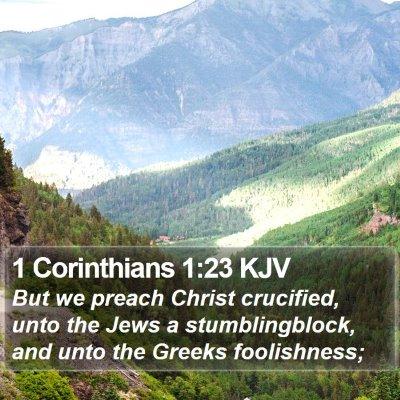 1 Corinthians 1:23 KJV Bible Verse Image