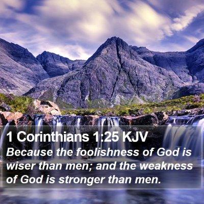 1 Corinthians 1:25 KJV Bible Verse Image