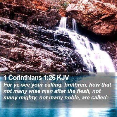 1 Corinthians 1:26 KJV Bible Verse Image