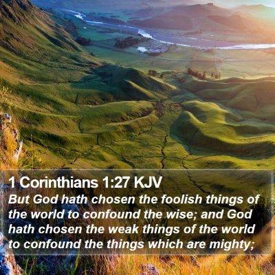 1 Corinthians 1:27 KJV Bible Verse Image