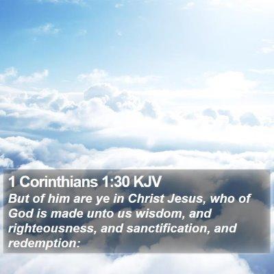 1 Corinthians 1:30 KJV Bible Verse Image