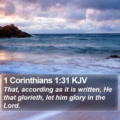 1 Corinthians 1:31 KJV Bible Verse Image