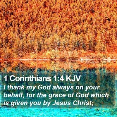 1 Corinthians 1:4 KJV Bible Verse Image