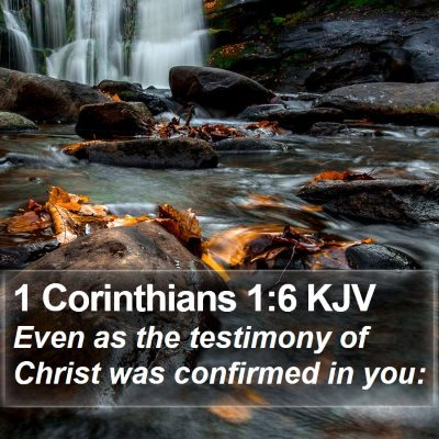1 Corinthians 1:6 KJV Bible Verse Image
