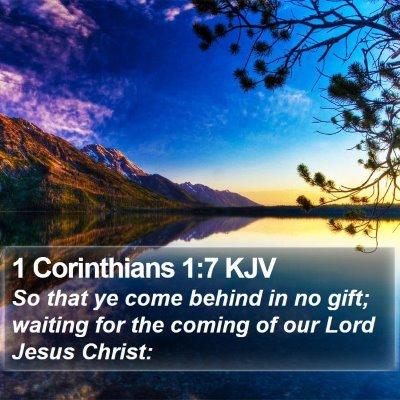 1 Corinthians 1:7 KJV Bible Verse Image