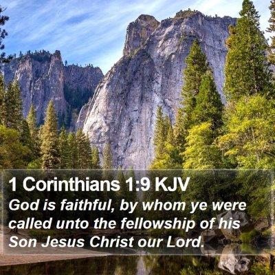 1 Corinthians 1:9 KJV Bible Verse Image