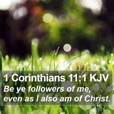 1 Corinthians 11:1 KJV Bible Verse Image