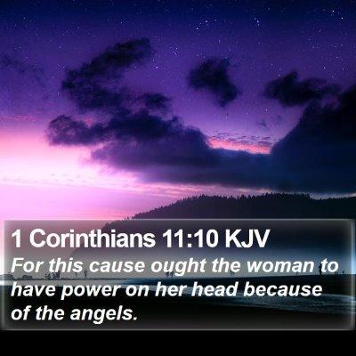 1 Corinthians 11:10 KJV Bible Verse Image
