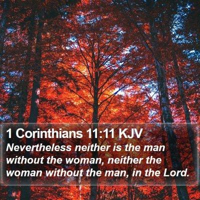 1 Corinthians 11:11 KJV Bible Verse Image