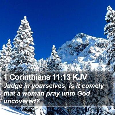 1 Corinthians 11:13 KJV Bible Verse Image