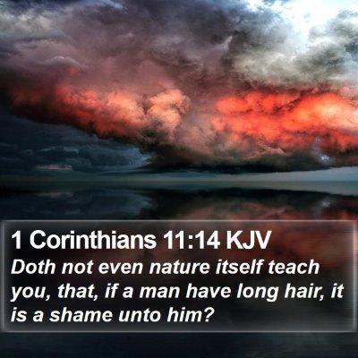 1 Corinthians 11:14 KJV Bible Verse Image