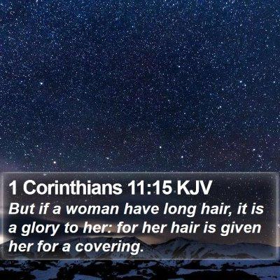 1 Corinthians 11:15 KJV Bible Verse Image