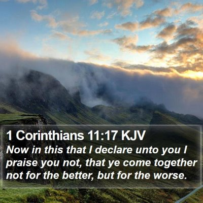 1 Corinthians 11:17 KJV Bible Verse Image