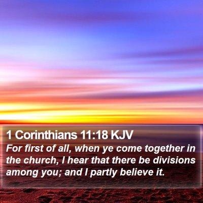 1 Corinthians 11:18 KJV Bible Verse Image