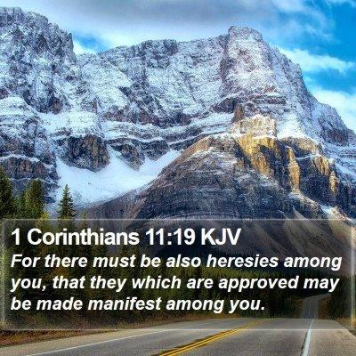 1 Corinthians 11:19 KJV Bible Verse Image