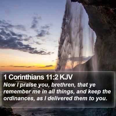 1 Corinthians 11:2 KJV Bible Verse Image