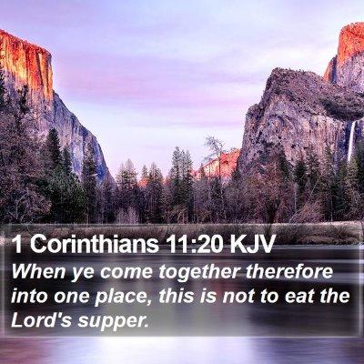 1 Corinthians 11:20 KJV Bible Verse Image