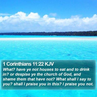1 Corinthians 11:22 KJV Bible Verse Image