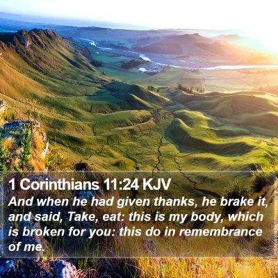 1 Corinthians 11:24 KJV Bible Verse Image