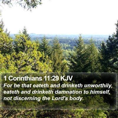 1 Corinthians 11:29 KJV Bible Verse Image