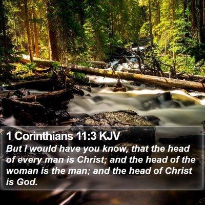 1 Corinthians 11:3 KJV Bible Verse Image