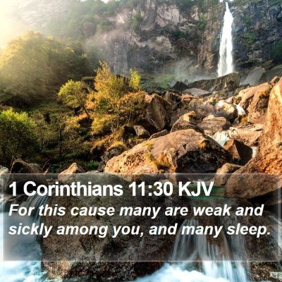 1 Corinthians 11:30 KJV Bible Verse Image