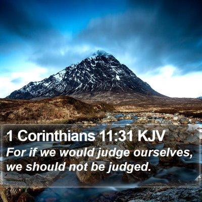 1 Corinthians 11:31 KJV Bible Verse Image
