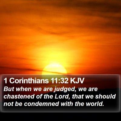 1 Corinthians 11:32 KJV Bible Verse Image