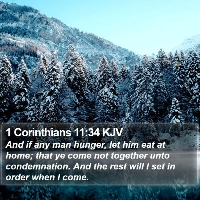 1 Corinthians 11:34 KJV Bible Verse Image