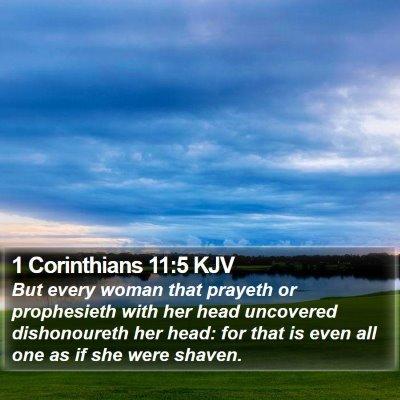 1 Corinthians 11:5 KJV Bible Verse Image