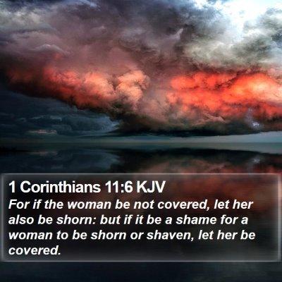 1 Corinthians 11:6 KJV Bible Verse Image