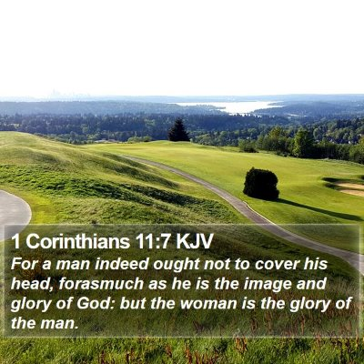 1 Corinthians 11:7 KJV Bible Verse Image