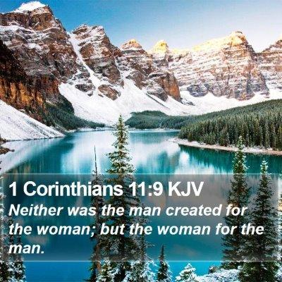1 Corinthians 11:9 KJV Bible Verse Image