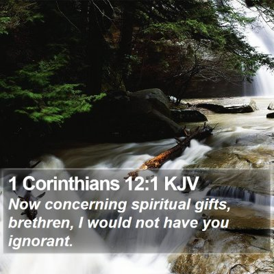 1 Corinthians 12:1 KJV Bible Verse Image