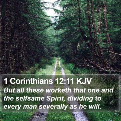 1 Corinthians 12:11 KJV Bible Verse Image