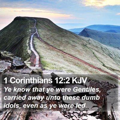 1 Corinthians 12:2 KJV Bible Verse Image
