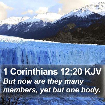 1 Corinthians 12:20 KJV Bible Verse Image
